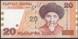 Kyrgyzstan 20 Som 2002 P19 UNC - Kirghizistan