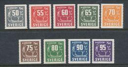 Sweden 1954-1964 Facit # 458-466. Rock Carvings,  Set Of 9, MNH (**) - Nuovi