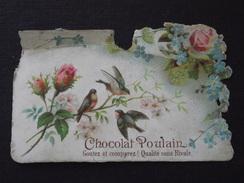 CHOCOLAT POULAIN - Oiseaux Sur Une Branche De Rosier - Ancienne Publicité Alimentaire - A Voir ! - Chocolate