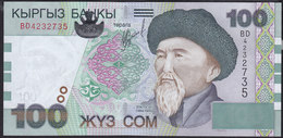 Kyrgyzstan 100 Som 2002 P21 UNC - Kirguistán