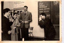 Photo Originale 1954 - Jeux De Photographe Professionnels, Je Te Prends, Tu Me Prends En Photo - Flash 50's & Soufflets - Gegenstände