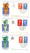 Set Of 8 FDC_EUROPA_1958_CEPT_different Countries - Europa-CEPT