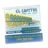 Tabac , Boite, Pochette D'ALLUMETTES, 2 Scans, EL CAPITAN , Lodge And Casino , Hawthorne , Nevada , Etats Unis - Matchboxes