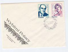 1983  POLAND FDC Stamps Iwaszkiewicz Pawlikowska Cover Literature Poetry - FDC