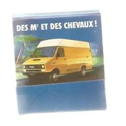 Tabac , Boite, Pochette D'ALLUMETTES, 2 Scans, IVECO ,des M3 Et Des Chevaux , Automobiles Utilitaires - Boites D'allumettes