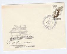1982 POLAND FDC Stamps Szymanowski MUSIC Cover - Music
