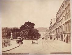 ACHILLE MAURI - RIVIERA DI CHIAIA, NAPOLI. PHOTO  ORIGINAL RARE - CIRCA 1870S - 36.7X31.9CM - ITALY/ITALIA - BLEUP - Fotos