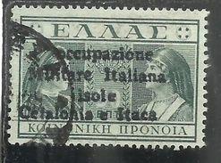 OCCUPAZIONE ITALIANA ITACA 1941 PREVIDENZA SOCIALE DEL 1939 SOPRASTAMPATO OVERPRINTED 50 LEPTA USED SIGNED OBLITERE' - Cefalonia & Itaca