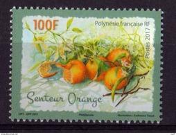 Polynésie Française 2017 - Fruits, Oranges, Timbre Senteur Orange - 1 Val Neufs // Mnh - Polynésie Française