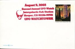 25106 U.s.a. Special Postmark 2003 UFO Watchtower, Intergalactic Sub Station - Other
