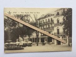 """SPA """" Place Royale , Hôtel Des Bains 1926 ( Aujourd'hui Le Radisson) """"  Verierre Terrasse Hôtel , Animée Édit E .Dumont - Spa"""