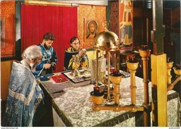 Monastère De CHEVETOGNE - Eglise Orientale - Elévation Du Pain Consacré - N'a Pas Circulé - Ciney