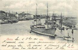 STETTIN - Hafen, Le Port.bateau Avec Un Remorqueur. - Pommern