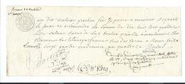 BILLET à ORDRE Du XVIIIe Filigrane Loi 13 Brumaire AN 7.Lettre De Change 1806 BEQUART LISIEUX, CASTELAIN Parfumeur ROUEN - Letras De Cambio