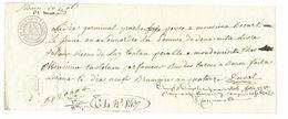 BILLET à ORDRE Du XVIIIe Filigrane Loi 13 Brumaire AN 7.Lettre De Change 1806 BEQUART LISIEUX, CASTELAIN Parfumeur ROUEN - Lettres De Change