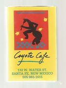 Tabac , Boite,  D'ALLUMETTES, 2 Scans, Etats Unis , Coyote Cafe , Santa Fe , Las Vegas - Boites D'allumettes