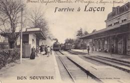 LUCON -   J'arrive à ....Beau Cachet Du 1 Reg De Dragons - Lucon