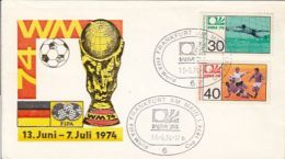 65088- WEST GERMANY'74 SOCCER WORLD CUP, SPECIAL COVER, 1974, WEST GERMANY - World Cup
