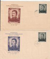 65107- JOSEPH STALIN, SOVIET DICTATOR, COVER FDC, 2X, 1949, ROMANIA - Celebrità