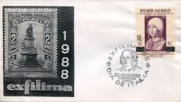 25121 Peru  Special Postmark   1988  Colon,  Coulomb,  Columbus - Christopher Columbus