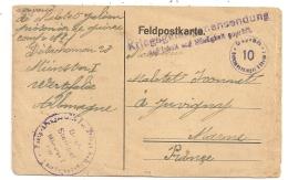 1918 LETTRE ( PRISONNIER DE GUERRE CAMP N°1 DETACHEMENT 28 ) DE MUNSTER A JUVIGNY FRANCHISE POSTALE CPA913 - Allemagne
