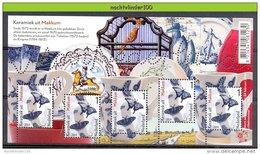 FG143 FAUNA VLINDERS VOGELS BIRDS HORSE SHIP BUTTERFLIES MARIPOSAS PAPILLONS KERAMIEK MAKKUM MOOI NEDERLAND 2014 PF/MNH - Vlinders