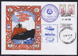 ARCTIC,RUSSIA,Exped.Arctic 2 Cachets,look Scan !! 31.5-13 - Navi Polari E Rompighiaccio