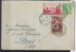 """FR YT 386 & 403 """" Timbres De L'année """" 1938 Oblitéré Sur Enveloppe - France"""