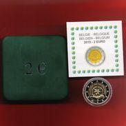 BELGIUM 2015 2 EURO PROOF COIN IN OFFICIAL BOX & CERTIFICATE - Belgique