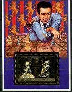 Comores, BF Non Répertorié**  Y Et T, Bloc - Feuillet, Championnat Du Monde D'échecs, 1990 - Comores (1975-...)
