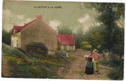 Le Retour A La Ferme, Koppel Op Weg Naar Boerderij (pk35424) - Folklore