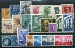 ITALIE ( LOT ) : LOT  DE  TIMBRES  NEUFS  SANS  TRACE  DE  CHARNIERE , GOMME  BICOLORE , A  VOIR . - Lotti E Collezioni