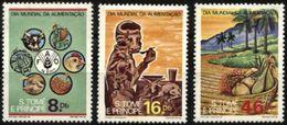 SAO TOME AND PRINCIPE, 1984, WORLD FOOD DAY, FAO , R#525-27, YV#819-21, MNH - São Tomé Und Príncipe