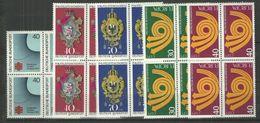 Bund 1973, 4x Nr. 763-65, 768/69,  Postfrisch - Unused Stamps