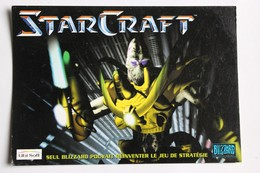 Carte Postale Publicitaire StarCraft Jeu Vidéo Blizzard Ubi Soft 1997 - Merchandising