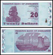 Zimbabwe 20 DOLLARS 2009 P 95 UNC ( Zimbabue  ) - Zimbabwe