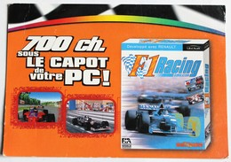 Carte Postale Publicitaire F1 Racing Simulation Jeu Vidéo PC Ubi Soft 1997 - Merchandising