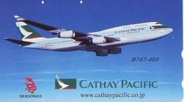 Télécarte  JAPON * 110-016  * CATHAY PACIFIC  (2276) * Phonecard JAPAN * Airplane * Flugzeug AVION * AIRLINE - Avions