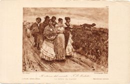 MICHETTI F.P. Le Retour Du Marché ( 99565) - Peintures & Tableaux