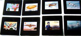 Espace Avion Aviation - Pochette 24 Diapositives Pédagogiques Pour Enfants -  Slide - Diapositives