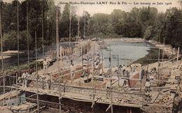 Usine Hydro-Electrique LAMY Père & Fils - Les Travaux En Juin 1906 - France