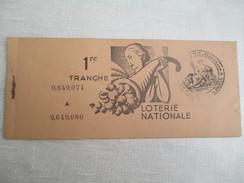 Carnet De Billets De Loterie / Présents 9 Sur 10/Loterie Nationale /Marianne /Avec Tampon D'huissier /1936    LOT12 - Lottery Tickets