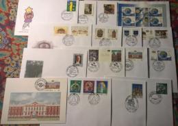 Lettonia 2000 16 FDC Annata Quasi Completa / Almost Complete Year Set FDC - Lettonie