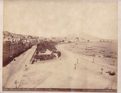 ACHILLE MAURI. VILLA E RIVIERA DI CHIAIA, NAPOLI.ORIGINAL,RARE CIRCA 1870S 36.7X31.9CM - ITALY/ITALIA- BLEUP - Photographs