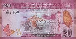 SRI LANKA 20 RUPEES 2015 P-123b I (BFR) [LK123c] - Sri Lanka