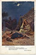 Orientalisme Poem By Julius Slowacki Born In Kremenets Ukraine Bedouin And His Child Camels - Qatar