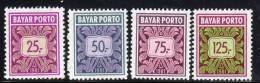 INDONESIE - 1981 - Timbres-Taxe N°74/77 ** - Indonésie