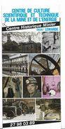 Lewarde - Denain Douai Cambrai - Centre Historique Minier - Nord  - Dépliant Touristique 4 Volets - Mine Charbon Mineur - Tourism Brochures