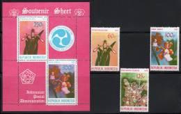 INDONESIE - 1979 - N°846/8 + Bloc N°29 ** Orchidées - Indonésie
