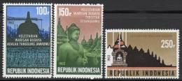 INDONESIE - 1983 - N°977/9 ** Monuments De Borobudur - Indonésie